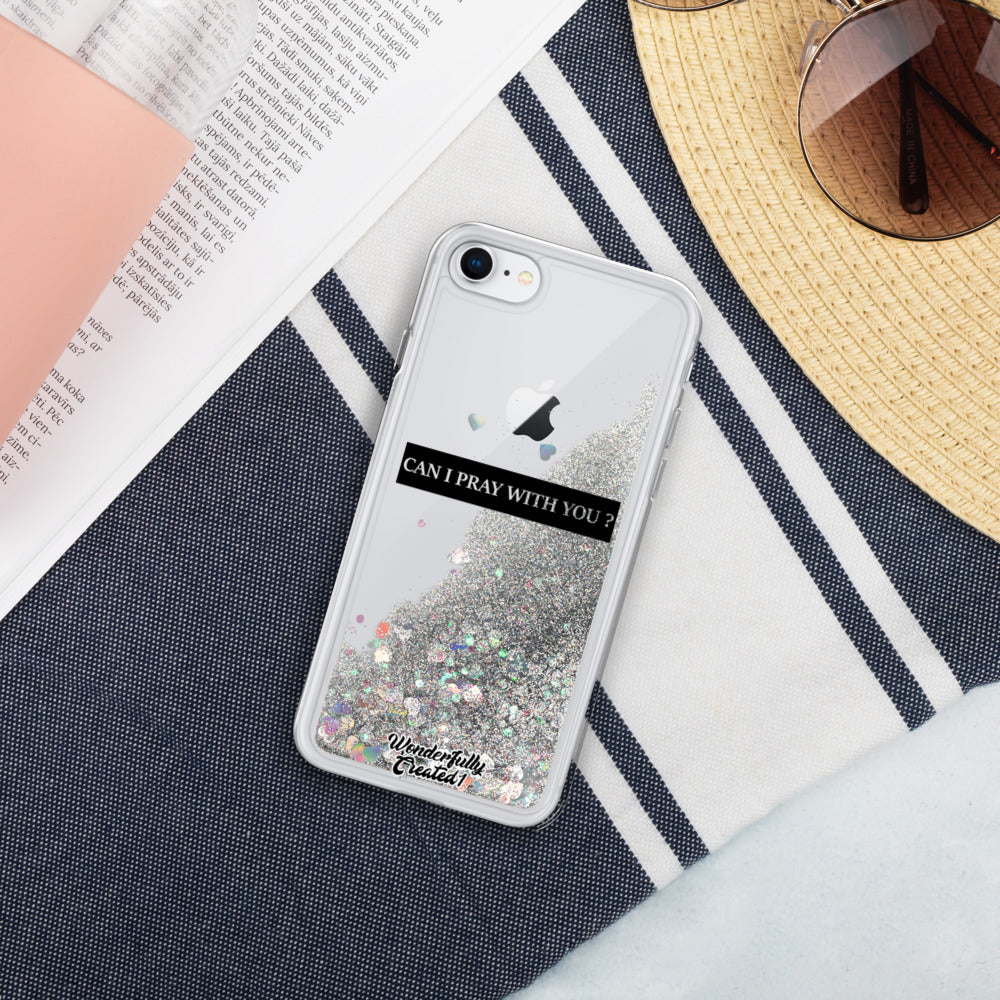 Custom Wonderfully Created Liquid Glitter Phone Case