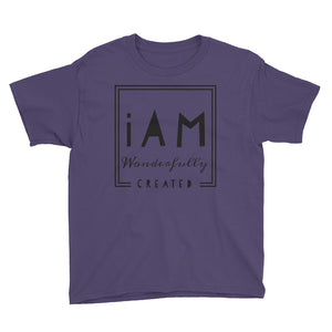iAm Wonderfully Created -Youth Short Sleeve T-Shirt