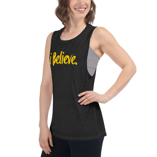 i Believe Ladies' Muscle Tank