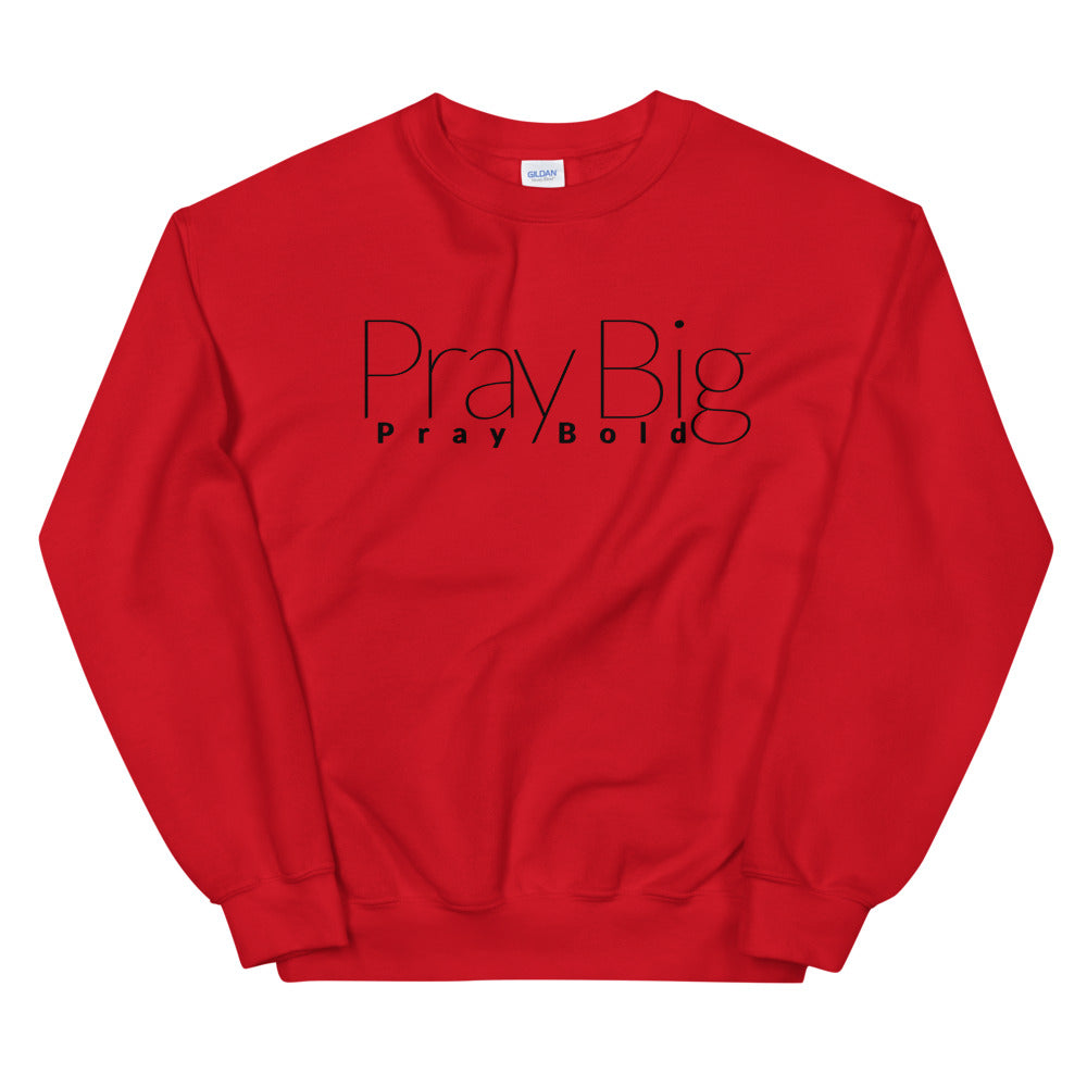 Pray Big PRAY BOLD Unisex Sweatshirt