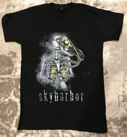 Robot Bird T Shirt (black)
