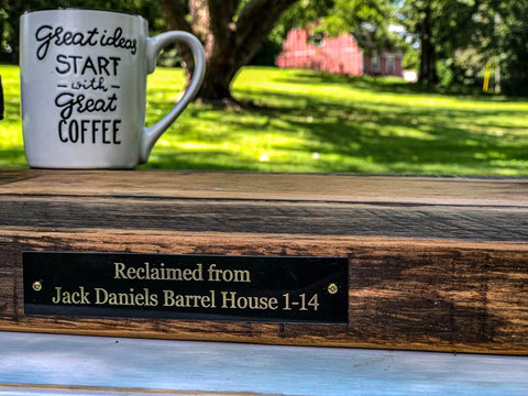Reclaimed Jack Daniels Barrel House Beams Serving Tray
