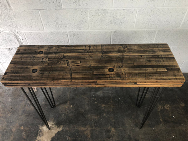 Maple Boxcar Console Table