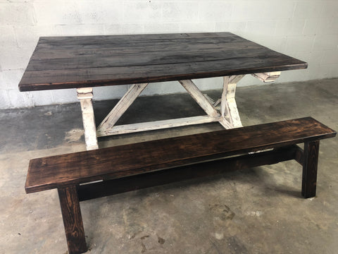 Farmhouse Table with Benches