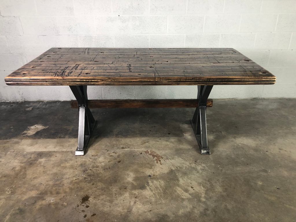 Maple Boxcar Dining Room Table