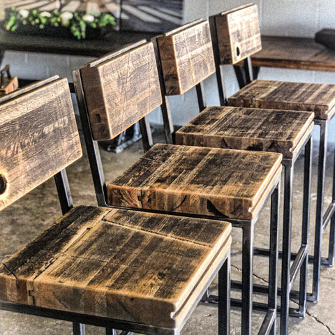 Boxcar Chairs/ Barstools