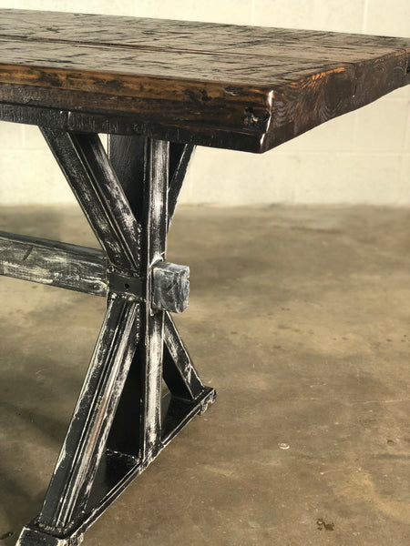 Reclaimed Pine Boxcar Dining Room Table