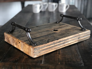 Reclaimed Train Car Serving Tray
