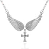 Angel Wings Cross Pendants Necklaces for Women