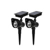 2pcs/lot LED Solar Outdoor Spotlight