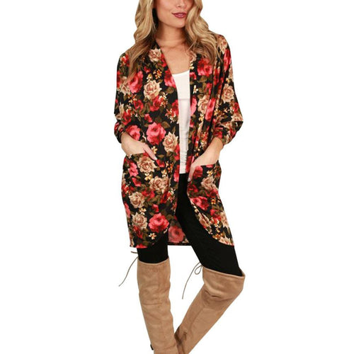 Floral Kimono with pockets