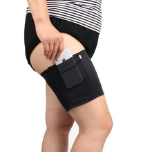 Women Thigh Bands Sock Anti-skid Thigh Sock Leg Warmer with Cellphone Pocket