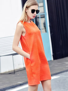 Orange you glad we have pockets? Day Dress with Pockets