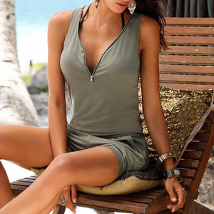 Sexy Summer Beach Romper with Pockets