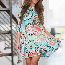 Summer Party Beach Floral Dress with Pockets