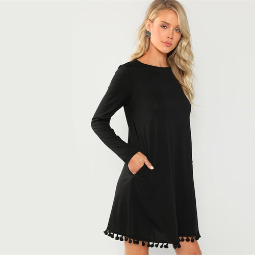 Back in Black Dress with Pockets