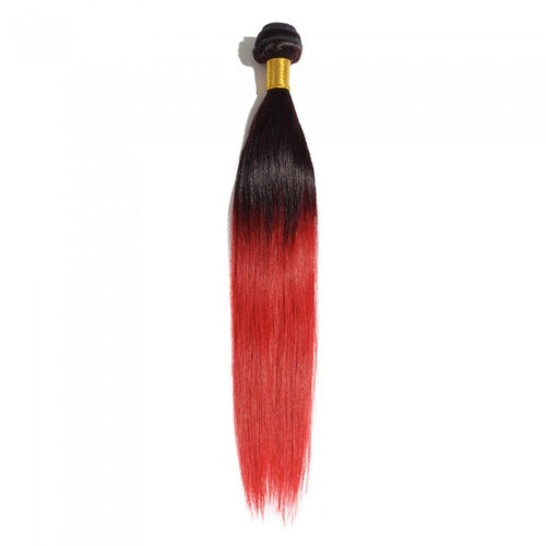 1B/Red Ombre Straight