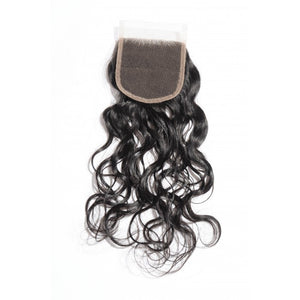 4x4 Natural Wave Lace Closure