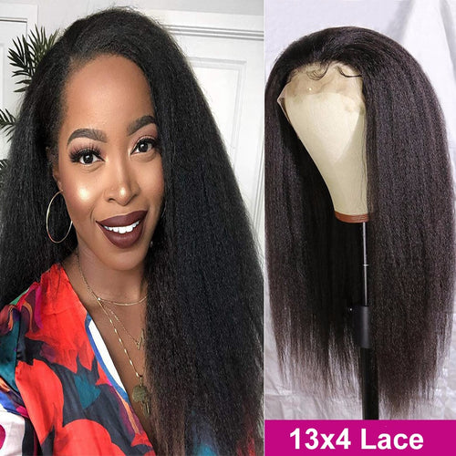 Naturally Kinky Straight Lace Front Wig