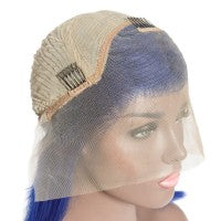 Blue Pre- Plucked Straight Bob Wig
