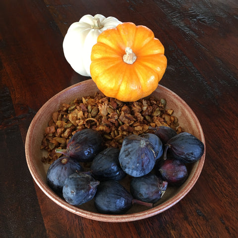 Pumpkin Spice Granola and Fresh Figs