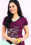 Dhanari  Top To Bottom Night Wear For Women's (NS-30) D017