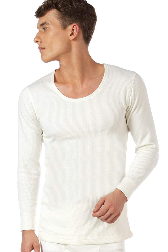 Men's ONN Premium Round Neck White Thermal (OT-032)