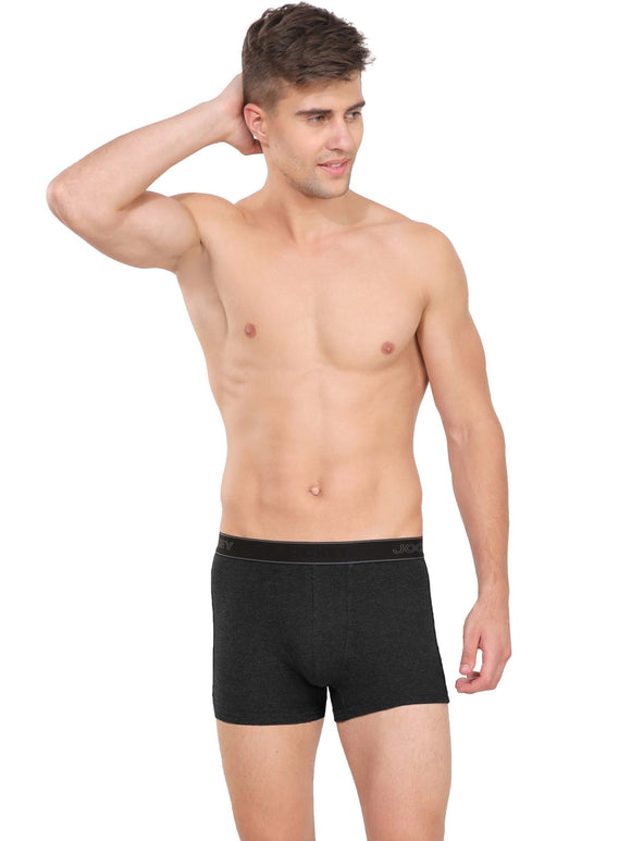 Jocky Men's Elance Ultra Soft Trunk (BRF_#1015_BLACK MELANGE)
