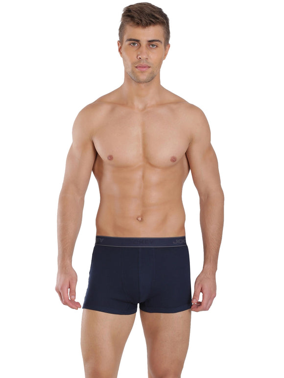 Jockey Men's Elance Ultra Soft Trunk (BRF_#1015_NAVY)