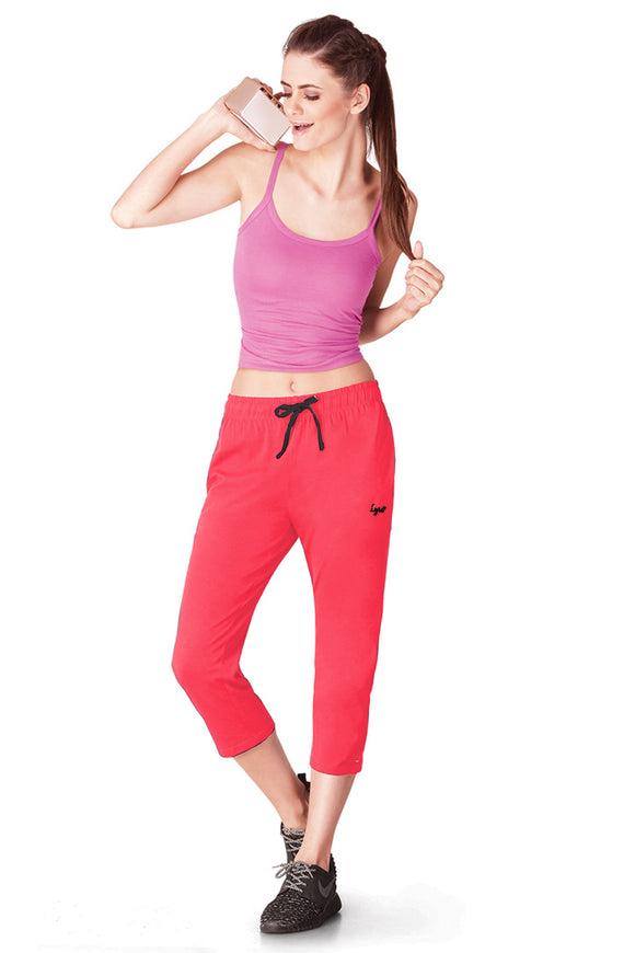 Dhanari Lyra Coral Color 3/4 Track Pants For Women's (TPA-302)A1