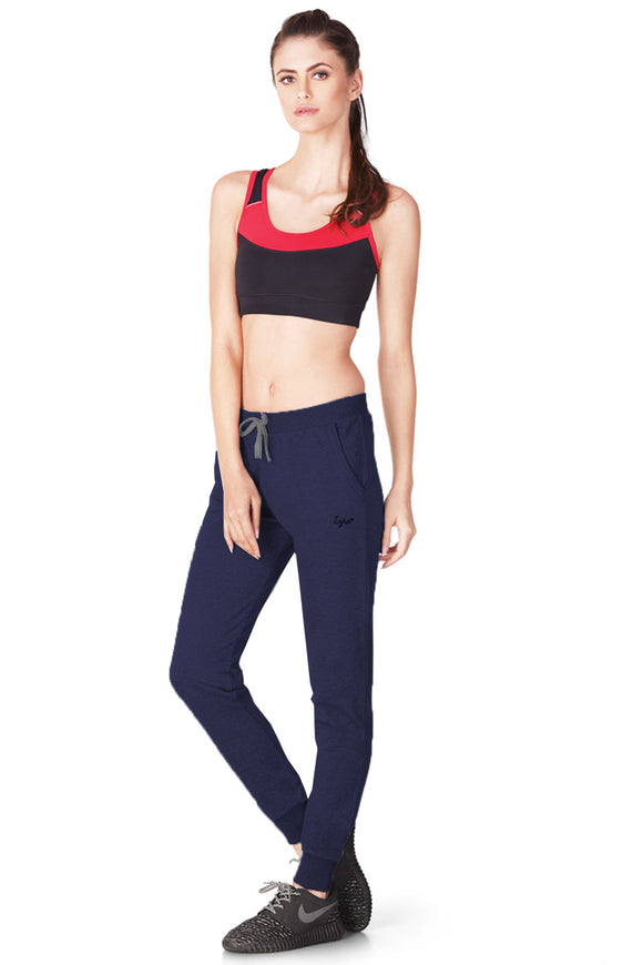 Dhanari Navy Blue Color Jogger For Women's (TPA-315)A2