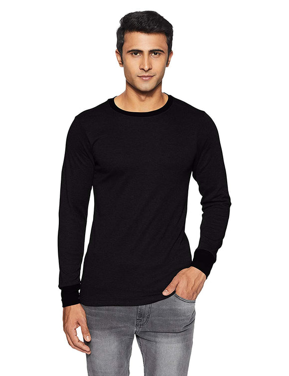 Men's Round Neck Black Color Thermal (THR-M1001)