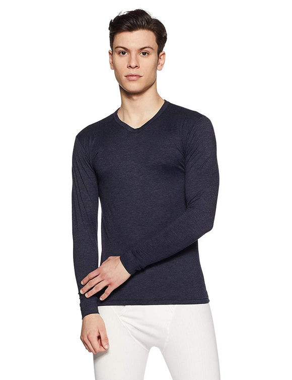Men's V Neck Black Color Thermal (THR-M1003)