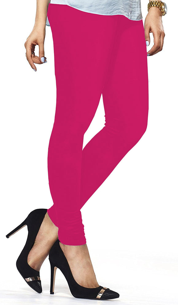 Lux Lyra Pink Frost Color Indian Churidar Leggings For Women's (LG-118)