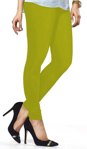 Lux Lyra Parrot Green Color Women's Leggings(LG-15)