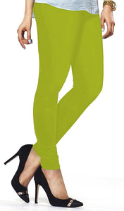 Lux Lyra Yellow Green Color Indian Churidar Leggings(LG-90)