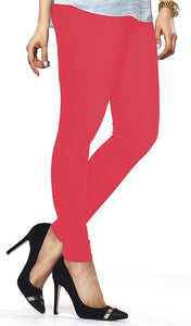 Lux Lyra Tomato Red Color Indian Churidar Leggings(LG-94)