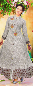 Dhanari White Color Printed Party Wear Kurti For Women's (KU-76) I3
