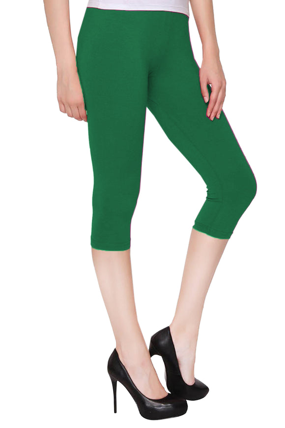 Lux Lyra Pak Green Color Capri Leggings (CAPRI-51)