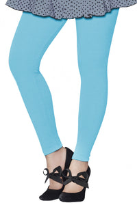 Lux Lyra Ankle Length Powder Blue Color Legging (LG-43)