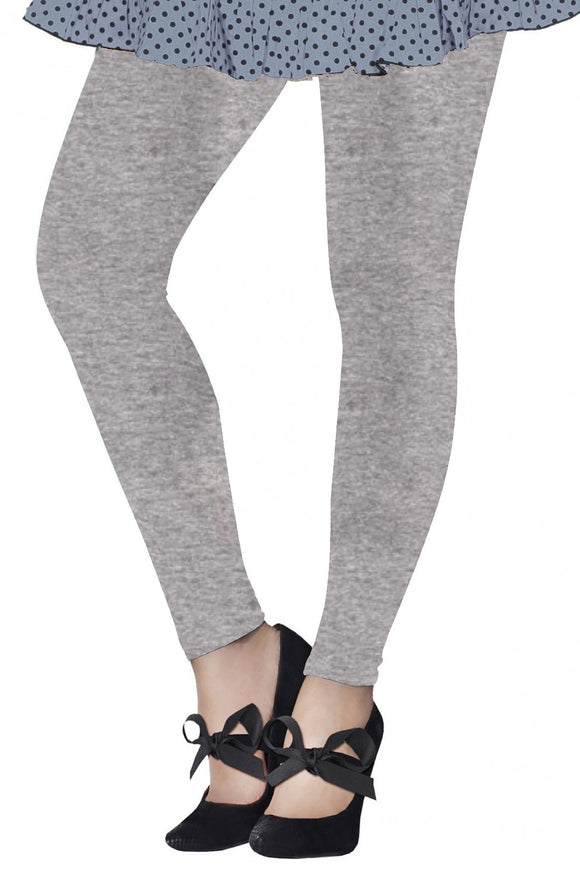 Lux Lyra Grey Melange Color Ankle Length Legging (LG-107)