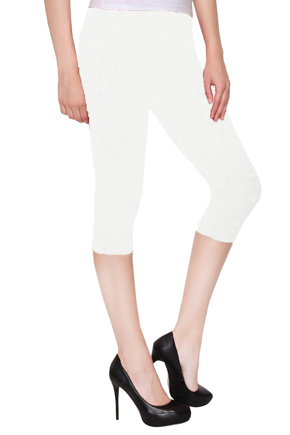 Lux Lyra White Color Capri Leggings (CAPRI-10)