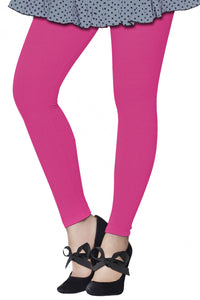 Lux Lyra Ankle Length Candy Pink Color Legging (LG-115)