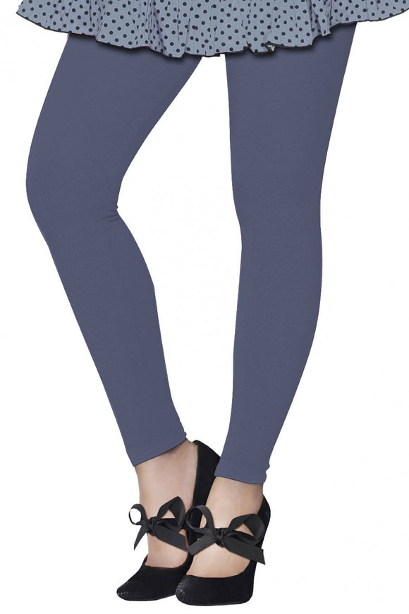 Lux Lyra Smoke Grey Color Solid Ankle Length Legging (LG-121)