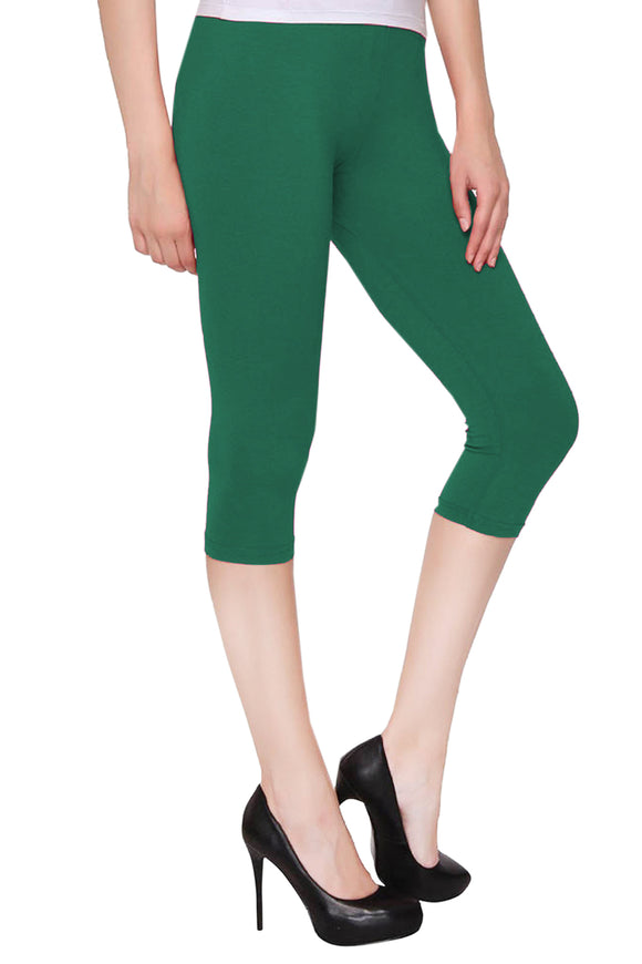 Lux Lyra Rama Green Color Capri Leggings (CAPRI-20)