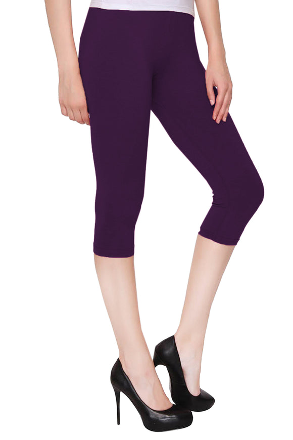 Lux Lyra M. Purple Color Capri Leggings (CAPRI-24)