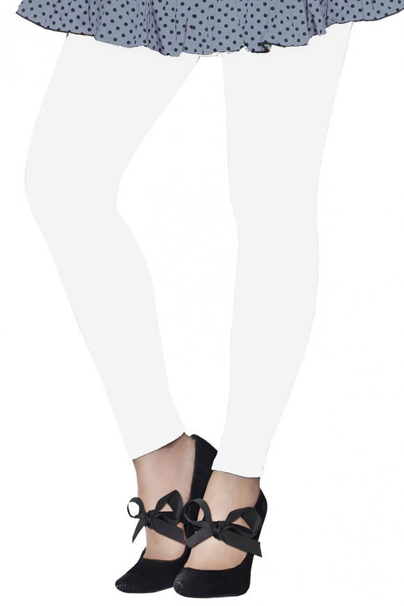 Dollar Missy White Color Ankle Length Leggings (LG-32)