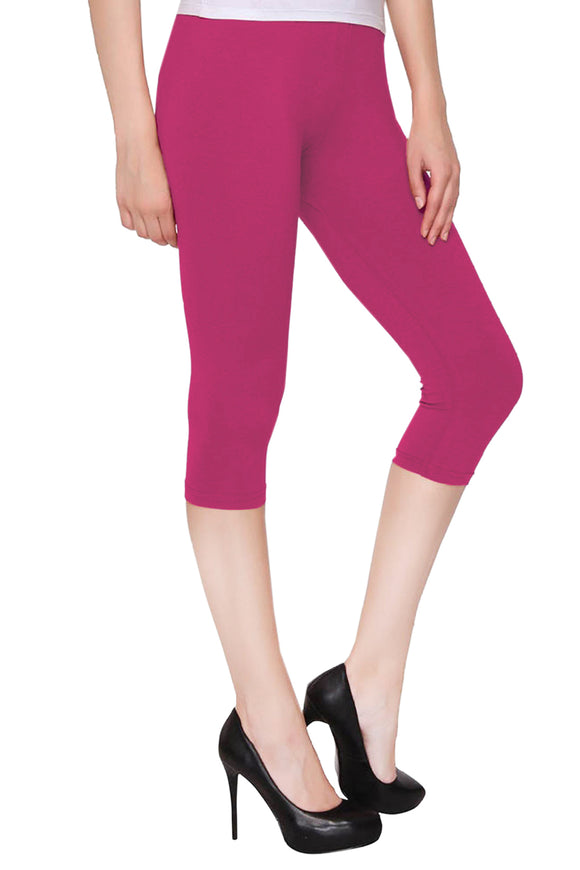 Dollar Missy Bubble Gum Color Capri Leggings (CAPRI-57)