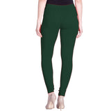 Lux Lyra Bottle Green Color Indian Churidar Women's Leggings(LG-6)