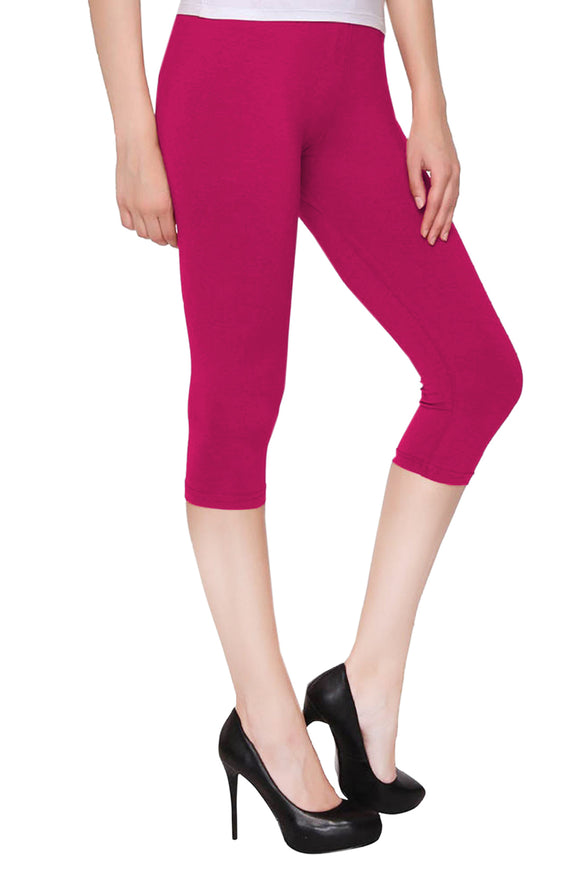 Lux Lyra Bubble Gum Color Capri Leggings (CAPRI-82)